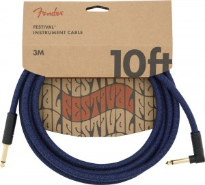 Fender Festival 10' ANG Blue Dream kabel gitarowy