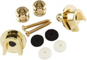 Fender 0022043049 Straplocks i Button Gold 2szt