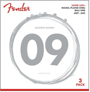 Fender 250L 3-Pack struny do gitary elektr. 9-42