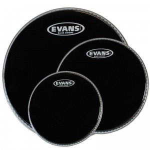 Evans TT08CHR Black Chrome naciąg tom 8""