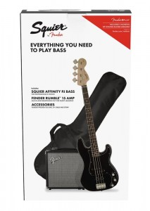 Squier Affinity PJ Bass BLK + Rumble 15 Pack