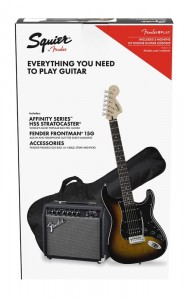 Squier Affinity Strat HSS BSB + Frontman 15G Pack