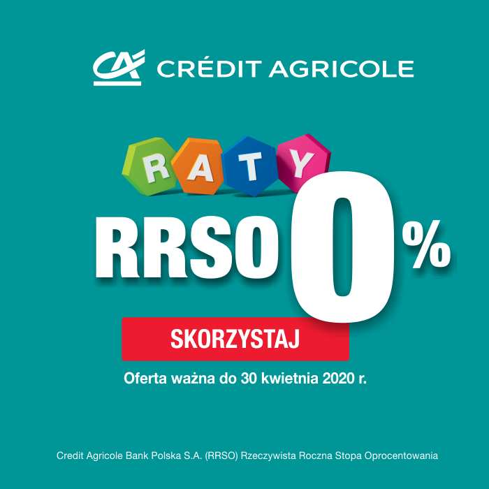 Raty 0% z Credit Agricole